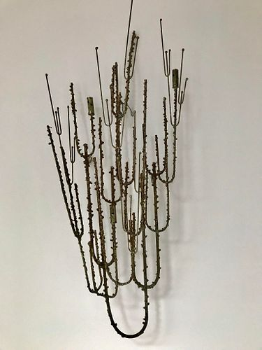 Curtis Jeré Style Mid-Century Metal Wall Sculpture