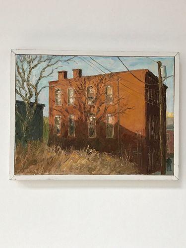 "Margaret Crenson ""Kingston Building"" Oil on Canvas"