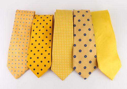 Men's Designer Silk Ties incl. Turnbull & Asser, 5