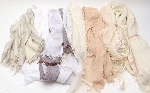 Assorted Cashmere, Pashmina, Linen Scarves, 7