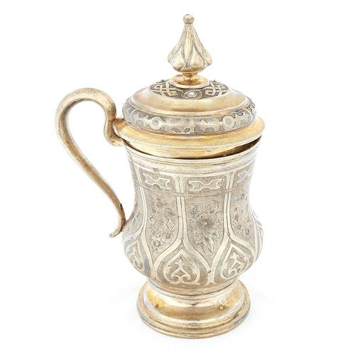 Russian Silver Tankard Moscow 1865
