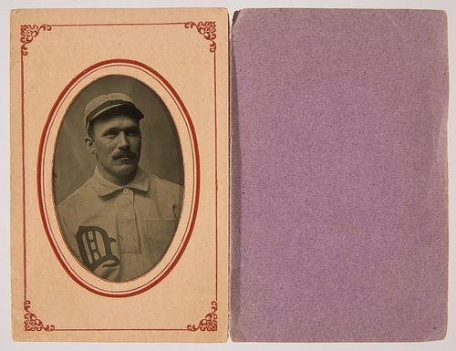 Tintype of Jack Ryan, short stop for Detroit Tigers in 1899.