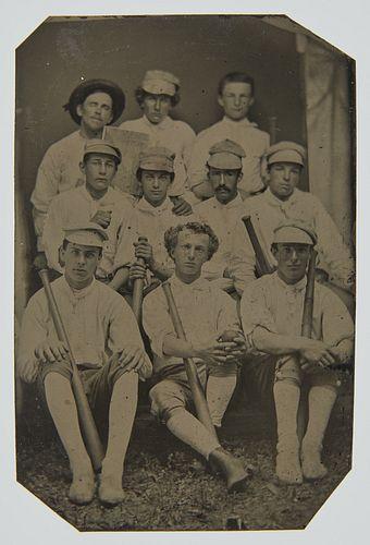 Important Tintype Cap Anson - Marshalltown Stars