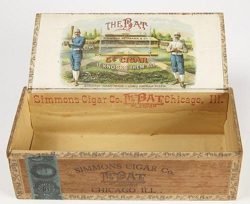 """The Bat 5 Cent Cigar"" Cigar Box"