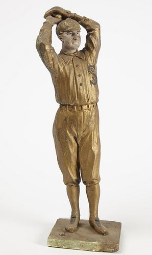 Sculpture of a White Sox Pitcher Red Faber