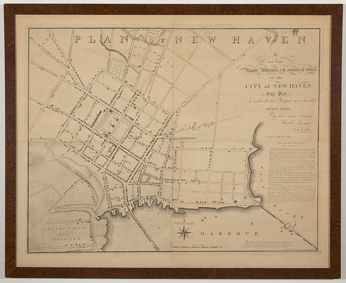 Important Plan of New Haven - Amos Doolittle-1824