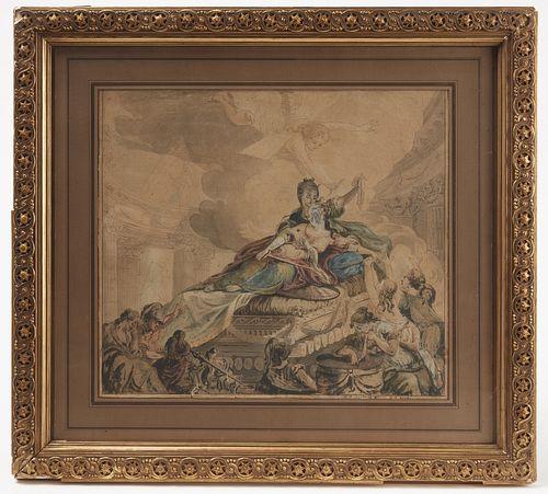Charles Joseph Le Jolivet Old Master Watercolor