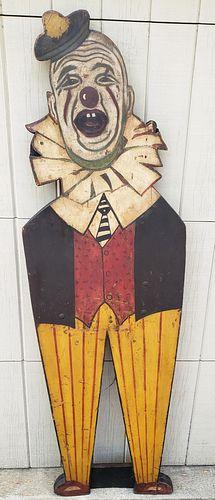 Folk Art Clown Carnival Figure