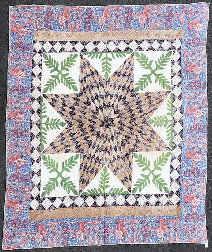 Fine Early American Star Quilt