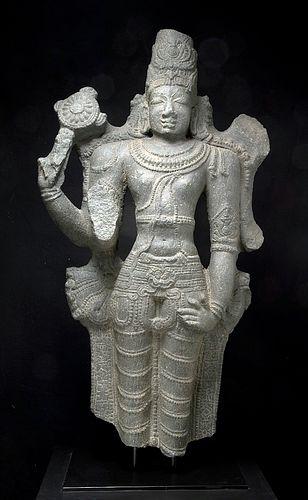 10th C. Indian Chola Dynasty Stone Vishnu, ex-Sotheby's