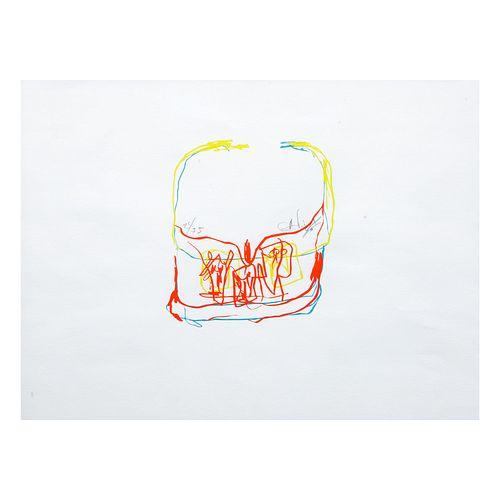 ALEJANDRO SANTIAGO, Sin título, Firmada y fechada 06, Serigrafía, 25 / 75, Enmarcada, 20 x 18 cm
