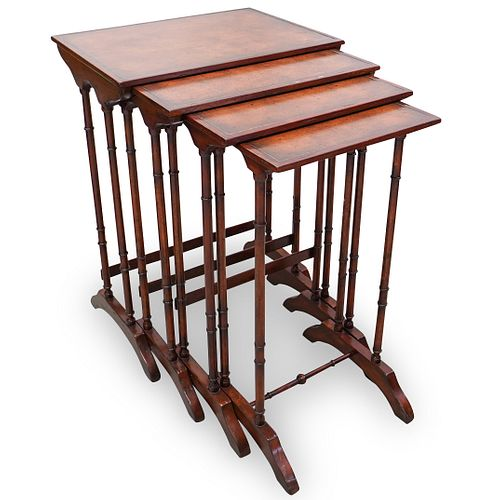(4 Pc) Theodore Alexander Wooden Nesting Tables