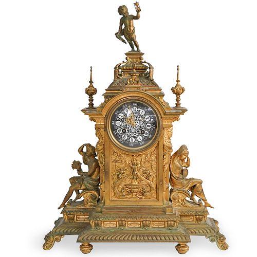 French L.Marti Et Cie Bronze Clock