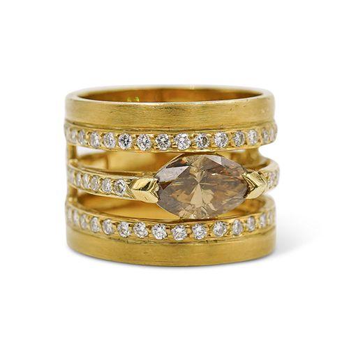 18k Gold & 1.63ct Diamond Cocktail Ring