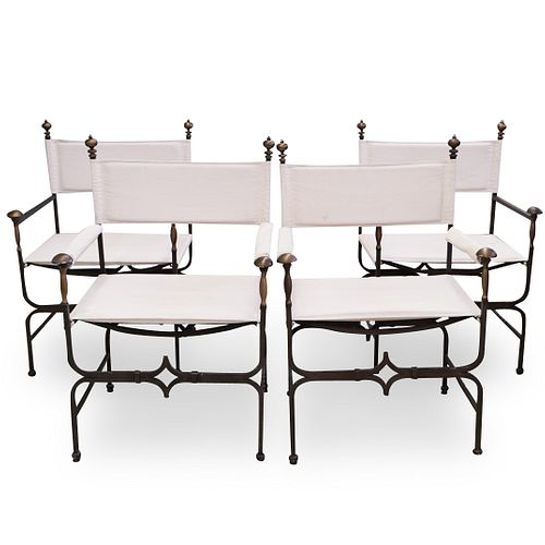 (4 Pc) Iron Patio Chair Set