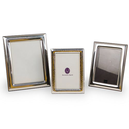 (3 Pc) Zaramella Argenti Sterling Picture Frames