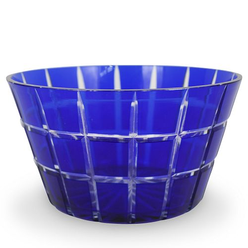 "Towle Cobalt ""Bali"" Glass Bowl"