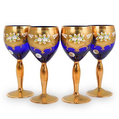 (4 Pc) AR&S Bohemian Glasses