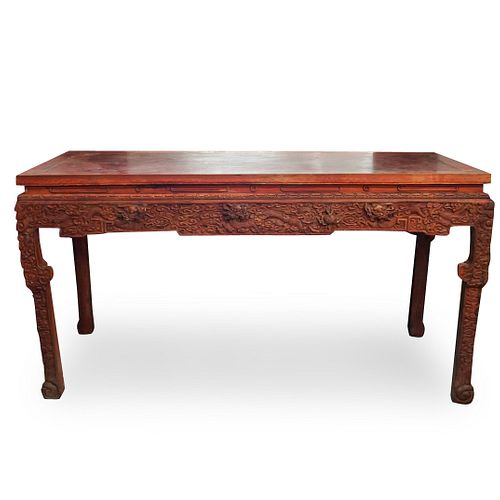 Chinese Wood Carved Altar Table