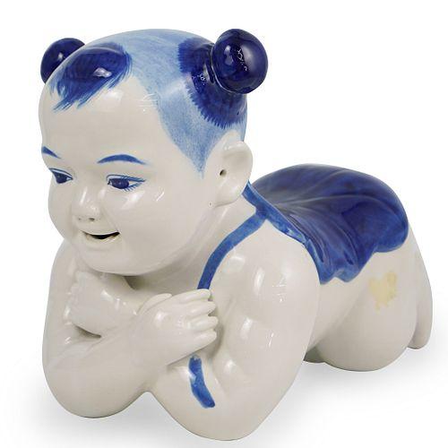 Chinese Glazed Porcelain Neck Pillow