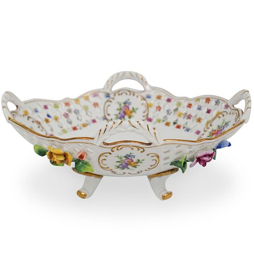 Dresden Reticulated Porcelain Bowl