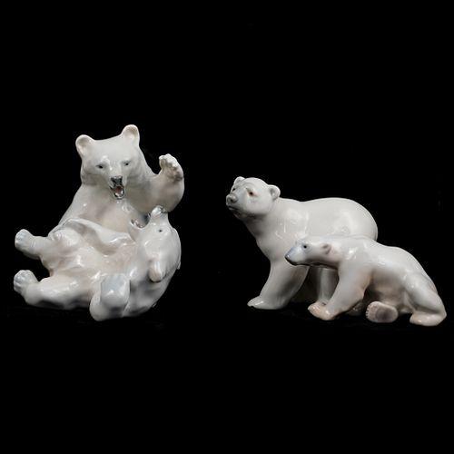 (3 Pc) Lot of Porcelain Polar Bears