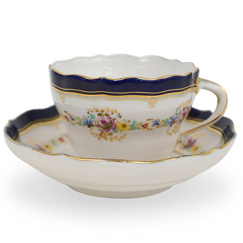 Meissen Porcelain Teacup and Saucer