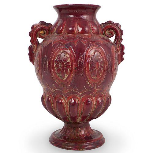 Italian Majolica Porcelain Vase