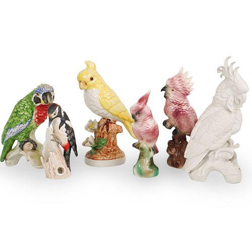 (6 Pc) Porcelain Bird Figurine Collection