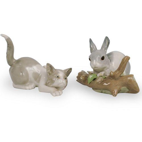 (2 Pc) Lladro & Porcelain Figurines