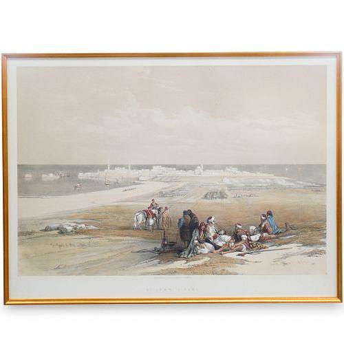 David Roberts (British, 1796-1864) Color Lithograph
