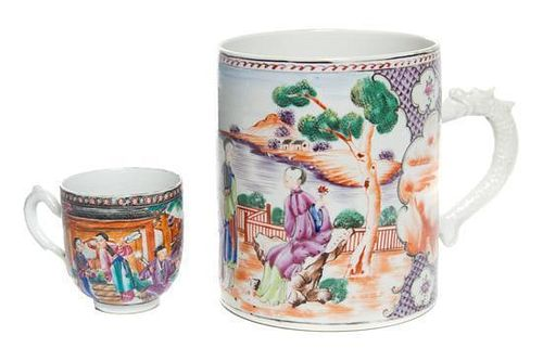 * A Chinese Export Porcelain Large Mug Height 5 1/4 inches.