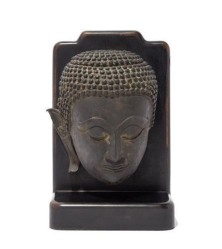 A Cambodian Terracotta Head of Buddha Height 7 inches.