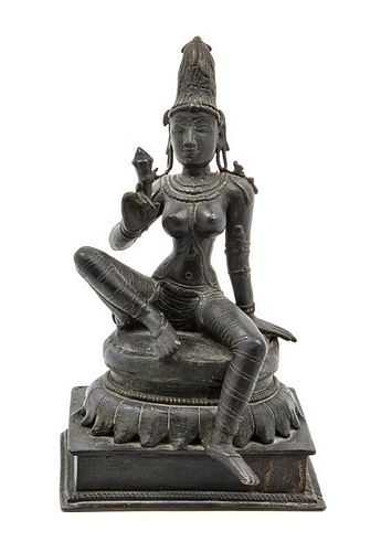 * An Indian Bronze Figure Height 10 1/2 inches.
