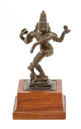 * An Indian Bronze Figure Height 3 1/4 inches.