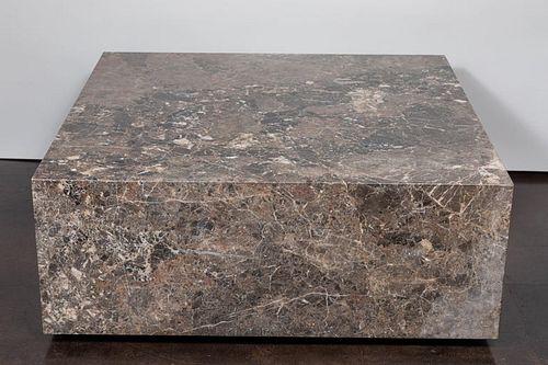 Italian Coffee Table of Emperador Marble, 1980s