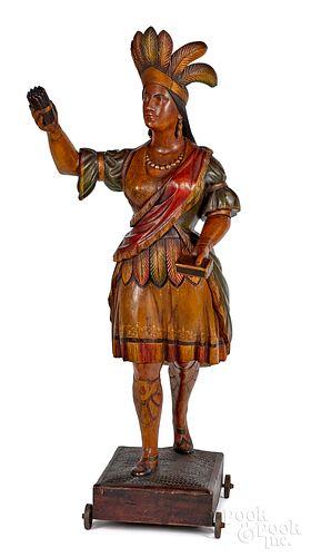 Cigar store Indian maiden