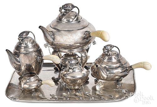 Georg Jensen sterling silver tea service