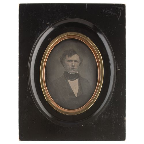 Half Plate Daguerreotype of Franklin Pierce by Root