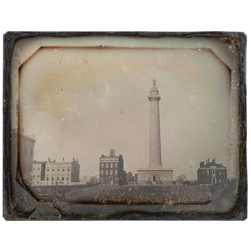 Half Plate Daguerreotype of the Washington Monument, Baltimore, Maryland, Possibly by John Plumbe, Jr.