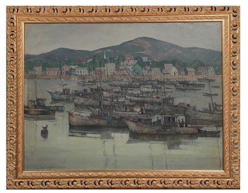 Paul Starrett Sample, 'Grey Boats'