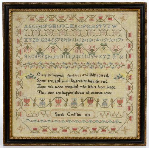 1818 Schoolgirl Sampler