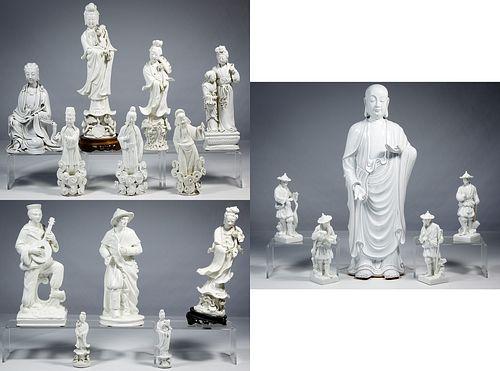 Asian Style Blanc de Chine Figurine Assortment
