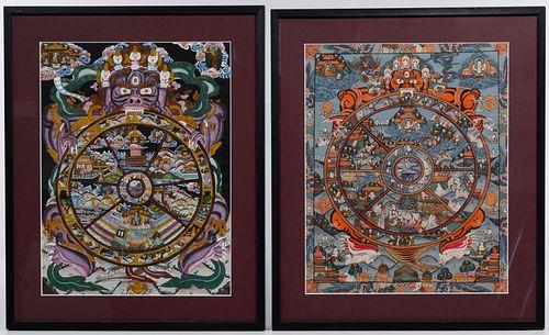 Tibetan Wheel of Life Thangkas