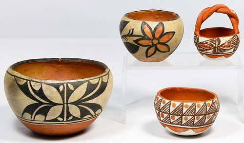 Native American Painted Pottery Assortment
