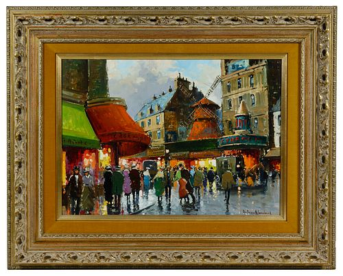 (In the Style of) Antoine Blanchard (French, 1910-1988) Oil on Canvas