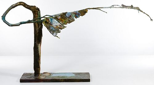 Bronze and Enamel Tree Sculpture