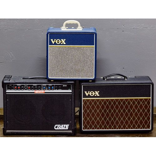 Vox and Crate Amplifier Assortment