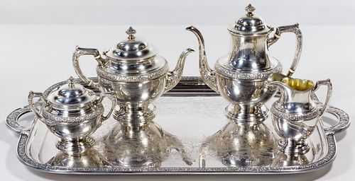 Alvin 'Bridal Bouquet' Sterling Silver Tea Service