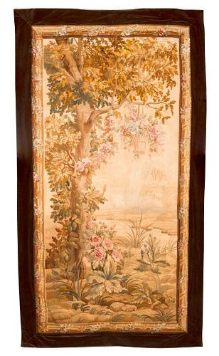 French Verdure Tapestry Panel.